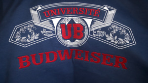 BUDWEISER UNIVERSITE OF BUD LARGE COAT- NEW- REAL NICE!