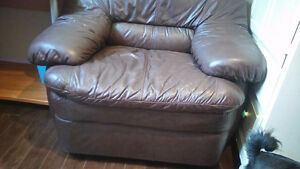 chocolate brown soft leather comfy chair