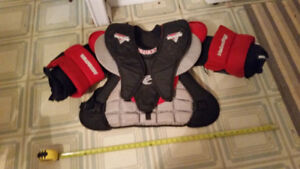Youth Goalie Chest Protectors and Goalie Mitt