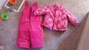 12-18 m girls snow suit
