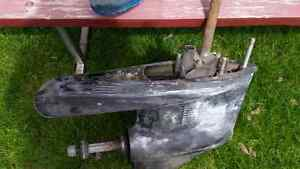 Bottom end of Mercury outboard motor & props