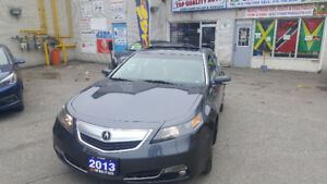2013 ACURA TL ADVANCE ELITE PKG GRAY ON ORANGE SEATS AWD 150KM