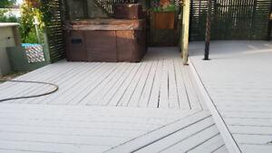 Entretien et réparation de clôtures et patios en bois traité