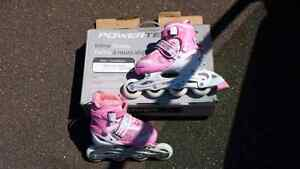 New in box size 13 youth inline skates pink