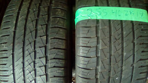 Pairs of 255 R19 all season tires.