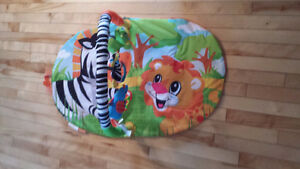 INFANTINO FLOOR PLAYMAT ZEBRA,LION,ELEPHANT multi-color
