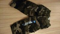 New Boys Size 6 Months Army Print Cargo Pants