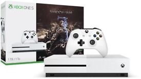 Brand New Xbox One S • Shadow of War • 500GB • Sealed