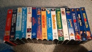VHS - 16 Assorted Children's Tapes