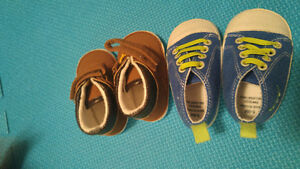 Baby clothes shoes and carrier