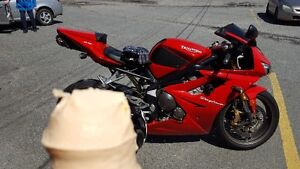 mint Daytona 675 two brothers angle st's heated grips first 5700
