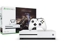 Xbox One S • Brand New Sealed • Shadow of War Bundle • 500GB