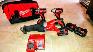 Milwaukee M18 Drill/impact/sawzall Package