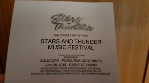 VIP Stars and thunder ticket for day 3 June 26th