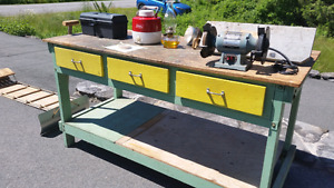 Work Bench- Solid Wood- 76X32X39