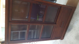 Gently used China cabinet for small places