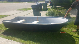 10 foot fiberglass boat with 3.3hp evinrude motor
