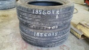 Pair of 2 Hankook Optimo H422 185/60R15 tires (50% tread life)