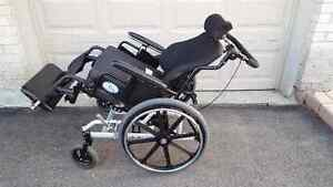 24 inches Wide Tilt-In-Space Wheelchair with Roho Cushion
