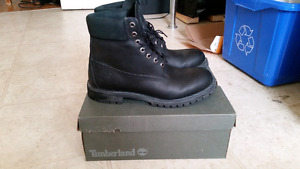 Size 12 black Timberlands mint condition