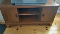 Wood Finish TV Stand
