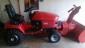 2003 Toro Wheel Horse Lawnmower snowblower and leaf bagger