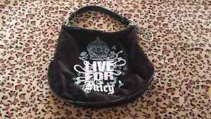 Big black velour Juicy Couture bag sac noir