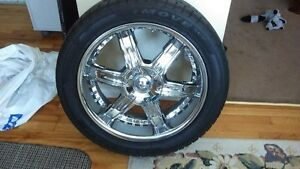 DIP Chrome Rims with Tires