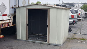6x8 metal shed with metal floor frame
