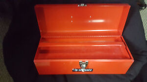 brand new red steel toolbox