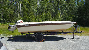 KC Thermoglass 17' boat with 115 Johnson