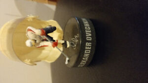 Mini Hockey Helmet Display Figure Alexander Ovechkin Washington