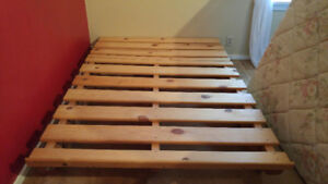 Free Ikea wood bed