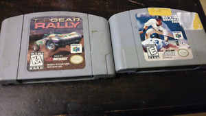 Two n64 games. Top gear rally and all-star baseball 2000