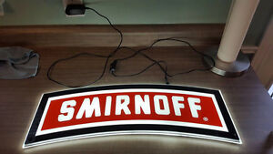 Smirnoff LED Lighted Bar sign