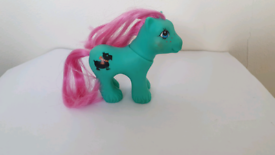 """Vintage MLP G1 Baby Brother """"PAWS"""" My Little Pony baby dog pink hair"""
