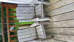 kids log patio chairs