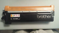 2 Brother TN-210 BK OPENED BOX UNSEALED CARTRIDGE PACKAGE