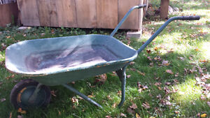 Old Metal Wheelbarrows - 2 items