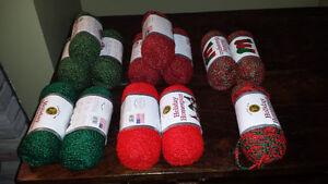 13 balls of Lion Brand Holiday Homespun - never used!