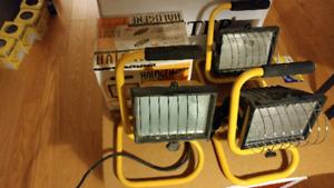 Work lights quartz halogen 500 watts