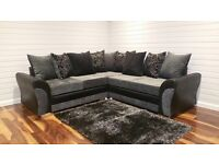 New 8ft x 8ft DQF Corner Sofa ONLY £749
