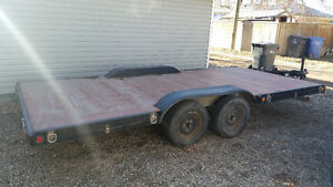 16 ft flat deck quad trailer
