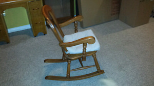 Handcrafted Hardwood Rocking Chair
