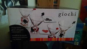 Giochi Playing Card Martini Glasses - Never used!