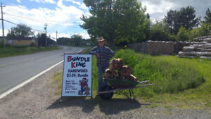 Bundles of Hardwood Firewood for Sale