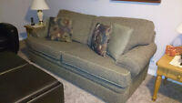 Couch, Chair and a half, ottoman