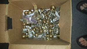 door knobs, 50 or so hindges