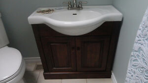 Vanity with Sink and taps,