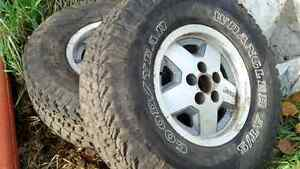 31x10 50r 15's set of 4 on Jeep rims